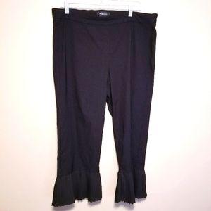 Michelle Studio Bell Pleated Hem Pull-On Pants